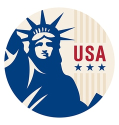 Travel sticker USA vector image