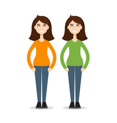 Twins together vector