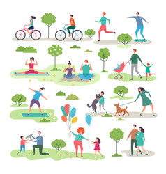 various outdoor activities in urban park vector image