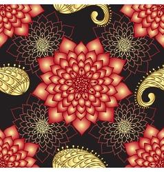 Vintage seamless dark floral pattern vector image