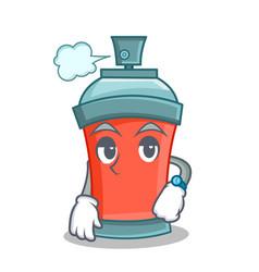 Waiting aerosol spray can character cartoon vector
