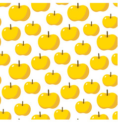 Yellow apples seamless pattern vector