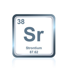 chemical element strontium from the periodic table vector image vector image
