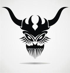 Demon Mask Tattoo vector image vector image
