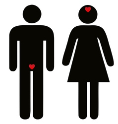 difference of man and woman concerning love vector image