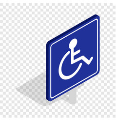 disabled handicap isometric icon vector image