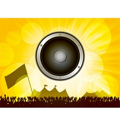 Festival and crowd with speaker vector image vector image