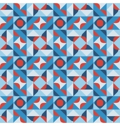 Seamless Geometric Square Pattern in Blue vector image vector image