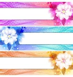flower banner set vector image vector image