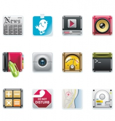 universal square icons vector image vector image