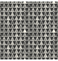 Abstract monochrome pattern of triangles vector image vector image