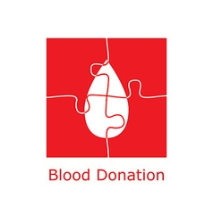 blood donation logo puzzle vector image