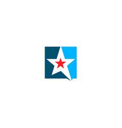 star square logo vector image