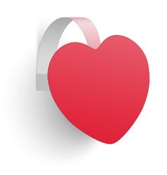 Advertising wobbler looking like heart isolated vector image