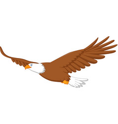 eagle cartoon flying vector image vector image