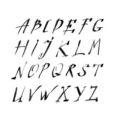 Hand drawn letters rustic style alphabet vector image vector image