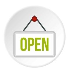 Open door sign icon flat style vector image