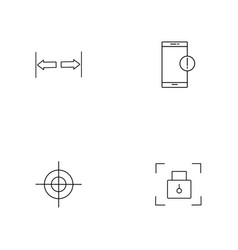 Signs and symbols simple linear icon setsimple vector