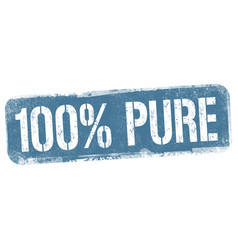 100 pure sign or stamp vector