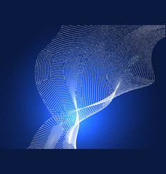 abstract digital lines on blue background vector image