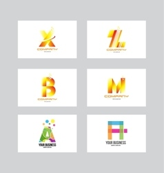 Alphabet letter icon logo set vector