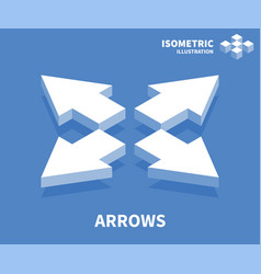 Arrows icon isometric template for web design vector