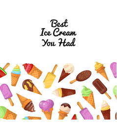 Best ice cream promo poster vector