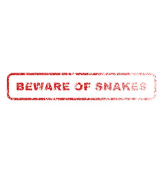beware of snakes rubber stamp vector image