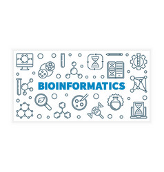 Bioinformatics or banner in vector