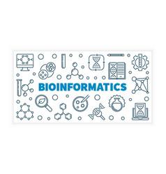 Bioinformatics or banner vector