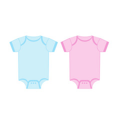 Blue and pink blank babodysuit template vector