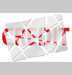 Broken creditcard vector