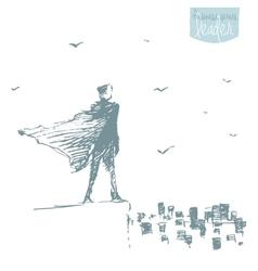 Businessman standing city opportunities concept vector image