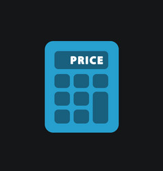 Calculator single flat icon vector
