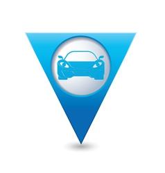 car3 BLUE triangular map pointer vector image