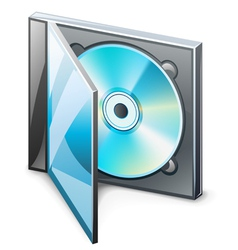 cd in case vector image
