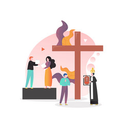 Christian religion concept for web banner vector