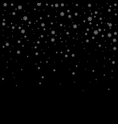 christmas winter black background with christmas vector image