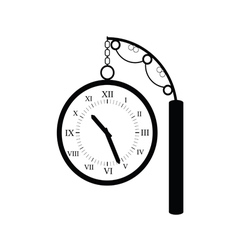 clock old black vector image