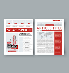 Corporate magazine template front page vector