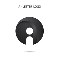 Creative A-letter icon abstract logo design vector image