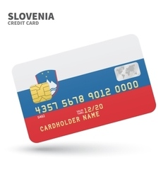 Credit card with Slovenia flag background for bank vector