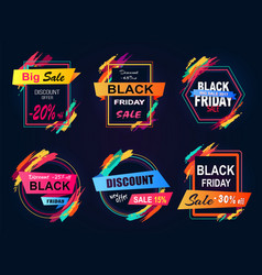 discount -45 black friday on vector image