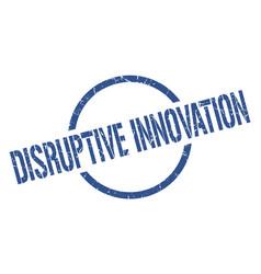 Disruptive innovation stamp vector
