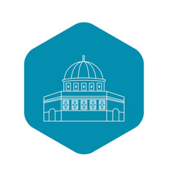 dome of the rock on the temple mount icon vector image