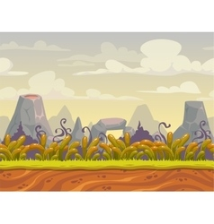 Fantasy seamless nature landscape vector