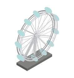 Ferris wheel icon isometric 3d style vector