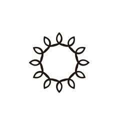 flower template emblem vector image