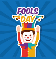 Funny clown mask jester vector