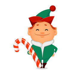 Funny santa claus helper elf vector